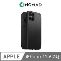 美國NOMAD經典皮革側掀保護套-iPhone 12 Pro Max (6.7吋)-黑