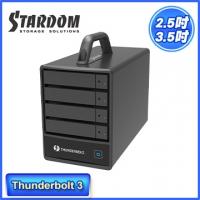 (STARDOM)STARDOM ST4-TB3+ B 3.5-inch/2.5-inch Thunderbolt? 3 4-slot disk array external box