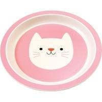 Rex LONDON 竹纖維餐盤(貓咪21cm)