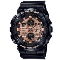 (casio)CASIO G-SHOCK Fully loaded mechanical wind sports watch GA-140GB-1A2-Black X rose gold surface