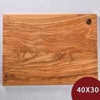 (Arte in olivo)Arte in olivo olive wood long chopping board 40x30cm