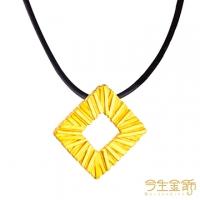 (今生金飾)This life gold ornaments meet the golden pendant with leather cord