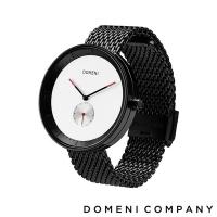(DOMENI COMPANY)[DOMENI COMPANY] SIGNATURE Classic Series Milan Strap / 316L Stainless Steel Single Eye Men's Watch-Black (BLM01)