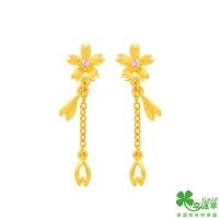 (幸運草金飾)Clover Gold Ornaments Cherry Blossom Gold Earrings