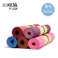 (SUKEII)[SUKEII] TPE High Density Two-Color Yoga Mat (6mm) - Random Color