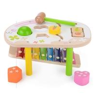 Classic wooden play children's bunny percussion piano toy (children's percussion toy)