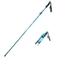 (Xavagear)[Xavagear] Outdoor hiking trekking pole aluminum alloy folding telescopic cane 110-130cm sky blue