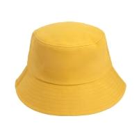 [Japanese and Korean simplicity] Plain fisherman hat sun hat hat basin hat sports sunscreen outdoor climbing leisure men and women trend (primrose yel
