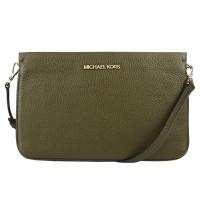 (MICHAEL KORS)MICHAEL KORS MK Leather Three-Layer Crossbody Bag-Large/Dark Green