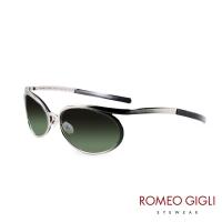(Romeo Gigli)Romeo Gigli Italian textured metal gradient sunglasses / metal green RG50503
