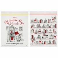 Winnie the Pooh Zipper Bag Sealed Bag Classification Bag Transparent Bag Storage Bag Square Transparent (20 Red Books)