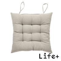 (Life+)[Life+] Japanese non-printed style cotton and linen check breathable cushion/chair cushion/cushion (khaki)