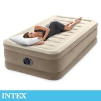 (intex)INTEX Super Thick Velvet Luxury Single Enlarged Inflatable Bed-Width 99cm (Built-in Pump) (64425)