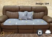 Hitto Japanese 100% Cotton Sofa Mat tatami 50x150cm with cushion cover