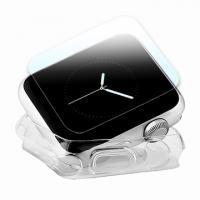 Apple Watch 42mm TPU 透明軟殼/鋼化玻璃貼組