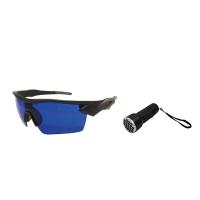Posma SGG-070C Golf Ball Picking Glasses 21 LED Purple Golf Ball Picking Flashlight Set