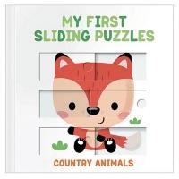 (YoYo Books)My First Sliding Puzzles:Country Animals 拼圖操作書:鄉村動物篇(外文書)