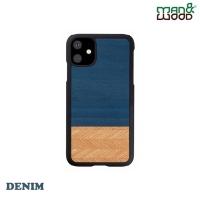 (Man&wood)Man&Wood iPhone 11 Classic Log Shaped Protective Case-Denim Denim