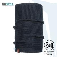 BUFF Lifestyle BFL117928 BIORN- denim blue knitted thermal scarf