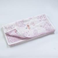 (Hartwell)Japan Aiko Hartwell Imabari Cute Baby Embroidered Bath Towel-Pink Bunny