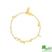 (幸運草金飾)Clover as the light gold bracelet