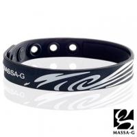 [TAITRA] MASSA-G Olympics Series [Holy Black Fire - White] Germanium Titanium Wristband