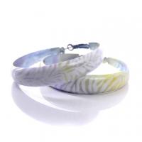 (太妃糖)Toffee psychedelic color dye in the circle earrings