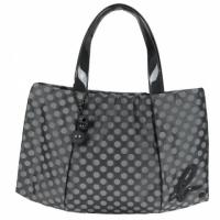 Agnes b. leather logo LOGO little shoulder bag (small / gray)