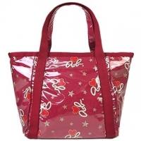 Agnes b.ab.heart star patent leather mini handbag (red)