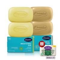 [US] Dermisa super whitening soap + exfoliating soap oatmeal into 4 (send Duru plant pure moisturizing soap)