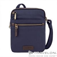 (TRAVELON)[Travelon US anti-theft bag] COURIER anti-theft N/S canvas cross-body bag (TL-33306 indigo/side backpack/anti-cutting net/RFID personal anti