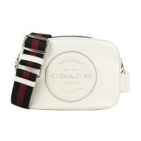 COACH Embossed LOGO Leather Crossbody Camera Bag (Pink White)