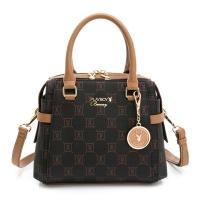 (playboy)PLAYBOY-Handbag with Long Strap Caramel Cocoa Series-Brown