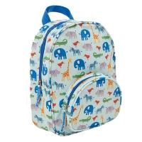 (jojo maman bebe)JoJo Maman BeBe Kindergarten/Older Kids Waterproof Backpack_Safari Park (JJE6914)