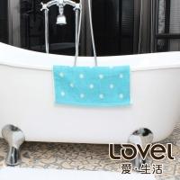(lovel)Lovel Patented Coffee Yarn Deodorant Anti-UV Dot Square Scarf (Blue)
