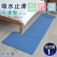 (abuns)Shorthair kitchen mat/bedside mat (large + small combination purchase-blue 1 set)