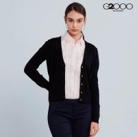 G2000 fashion plain long-sleeved knit jacket - Black