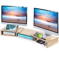 Dual monitor stand (oak grain)