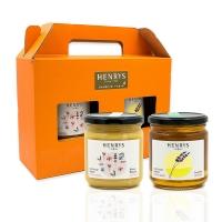 【HENRYS 亨利優蜜】西班牙原裝進口-百花+薰衣禮盒(500g x 2)