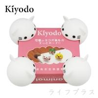 (KIYODO)KIYODO table leg safety protective cover-4 in-white cat