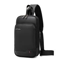 (BAO)【Pinle. BAO] AH Arctic Hunter Multifunctional Expandable Sports and Leisure Chest Bag (Black)