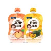 (Bebecook)Korea [BEBECOOK] Baoshan Baby Sponge Pumpkin Puree + Sydney Sweet Potato (80g) (2 included)
