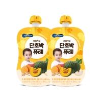 (Bebecook)Korea [BEBECOOK] Baoshan Infant Sponge Pumpkin Puree with Snow Pear (80g) (2 groups)