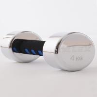 (ALEX)【ALEX】A-2004 new electroplating dumbbell (4KG/piece)