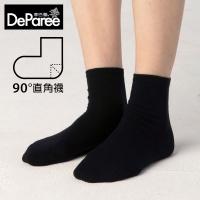(deparee)[Tibale] Socks Right Angle Socks-Black