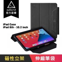 (adonit)[Adonit Huande] ADONIT iPad Case Multi-angle Folding Diamond Case and Stylus Pen Case-iPad 8th (10.2 inch)