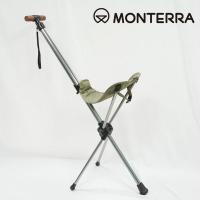 Monterra lightweight saddle riding type folding chairs olive Saddle I-3