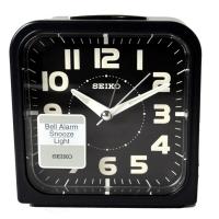 (seiko)SEIKO Color Aesthetic Fashion Alarm Clock-Black x Black Frame (QHK025K)