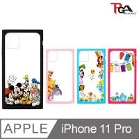 【日本 PGA】iPhone 11 Pro 5.8吋 迪士尼 透明 9H玻璃殼