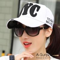 A-Surpriz Shuai American style letters NYC baseball cap (white)